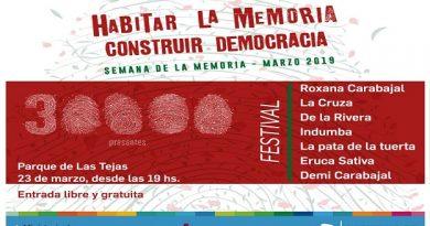 Con destacados artistas, llega el Festival por la Memoria