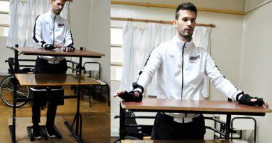 Alumnos crearon un aparato que ayuda a Leo Tevez a estar de pie