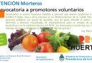 Morteros: Convocan a promotores voluntarios del ProHuerta
