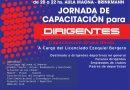 El lunes habrá «Capacitación para Dirigentes» en club San Jorge