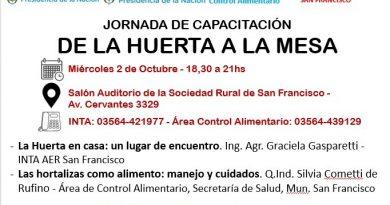 San Francisco Expone: Jornada de la Huerta a la Mesa
