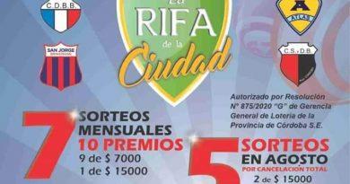 """Este domingo sortea """"La Rifa de la Ciudad"""" con 1,4 millones de pesos"""