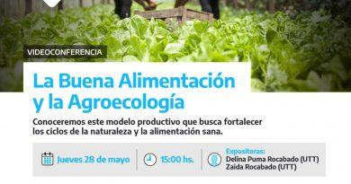 HOY: Videoconferencia sobre «Buena alimentación y Agroecología»