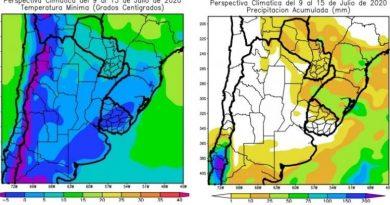 El clima en la provincia: continuarán las heladas con registros de hasta -5°C