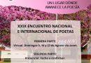 Comienza el 29° Encuentro de Poetas, pero esta vez será virtual