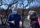 Massei entregó ayudas económicas a damnificados por los incendios