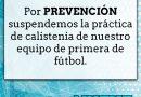 Nueve de Morteros suspende las prácticas por prevención