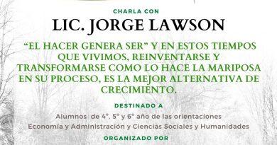 """Jorge Lawson charla vía zoom con alumnos del IMB – """"Reinventarse en epocas de crisis"""""""