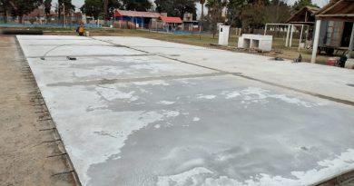San Jorge avanza con obras en nuevo playón deportivo