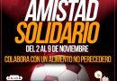 Amistad Solidario: Se reciben donaciones del 2 al 9 de noviembre