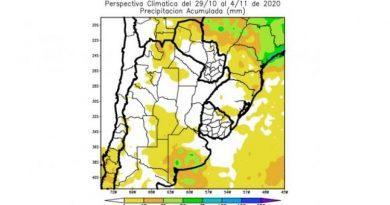 Perspectiva agroclimática: oscilación térmica y lluvias escasas