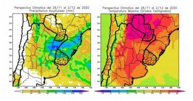 CLIMA: Noviembre se despedirá con precipitaciones abundantes y amplios focos de tormenta