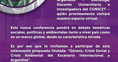 """Este miercoles Atilra invita a la charla virtual con Alcira Argumedo sobre """"Género, crisis social y ambiental"""""""