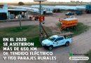 CoopMorteros: En el 2020 se asistieron más de 650km de tendido eléctrico