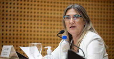 🔊 – La Legisladora Piasco recorrió obras en la Escuela Doña Anita Giaveno de Sacavino