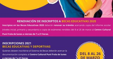Comienza este lunes la inscripción para Becas Educativas y Deportivas