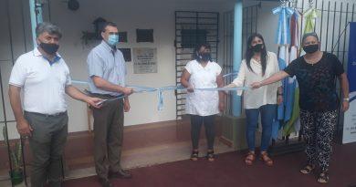 Inauguraron nuevos sanitarios y depósito en Esc. Manuel Belgrano en Col. Milessi