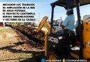CoopMorteros inició trabajos de ampliación de la red de agua potable.