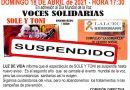 Luz de Vida suspendió el evento de voces solidarias con Sole y Toni