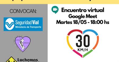 """Coloquio Virtual """"Reducción 30 km/h en calles. Ciudades para la Vida"""""""
