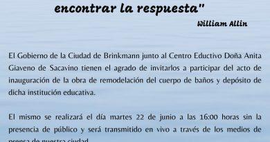 El martes se inauguran obras en sanitarios en Escuela Doña Anita G. de Sacavino