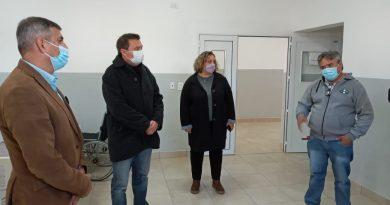 Morteros inició obras para el suministro centralizado de oxígeno en el Hospital Sauret