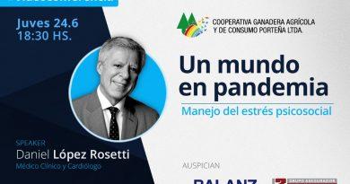 Cooperativa Ganadera de Porteña: llega la videoconferencia de Daniel Lopez Rosetti