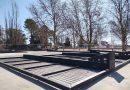 Centro avanza con la obra de la cancha de blindex de padel