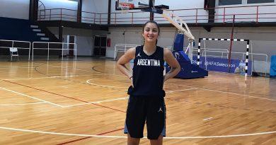 Lucía Ballari pasó un finde de entrenamiento con la Selección Nacional U16 de Básquet
