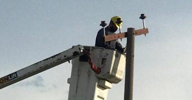 CoopBrinkmann: Operarios trabajaron en mantenimiento de la linea rural