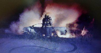 Hallaron un cuerpo sin vida dentro de una camioneta incendiada