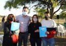 Manuel Calvo entregó 39 lotes a familias de Balnearia